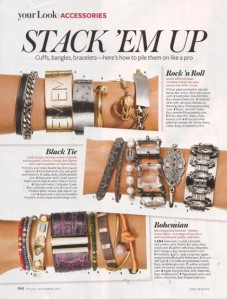 1212 stacked bracelets InStyle Makeover 3 styles REV