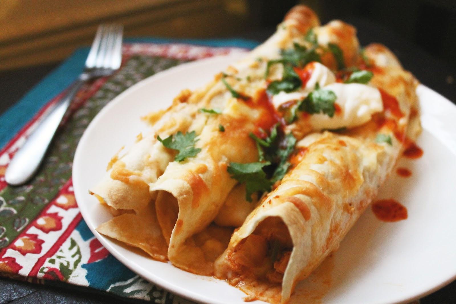 WINTER COMFORT: Roasted Vegetable Enchiladas | m2hair's Blog